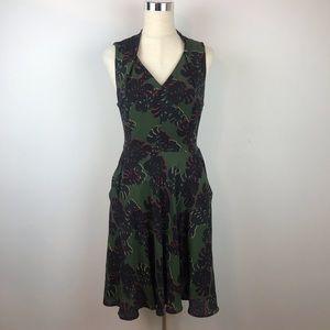 Tahari Arthur S. Levine Pockets V Neck Dress
